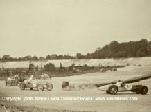 Riley. FW Dixon and MG R Type etc. Photo.  1933 Brooklands Empire trophy.